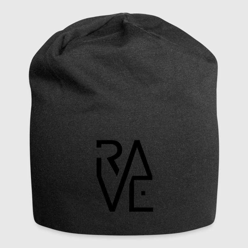 Rave Minimal Text Electronic Music Techno Schrift Caps & Mützen - Jersey-Beanie