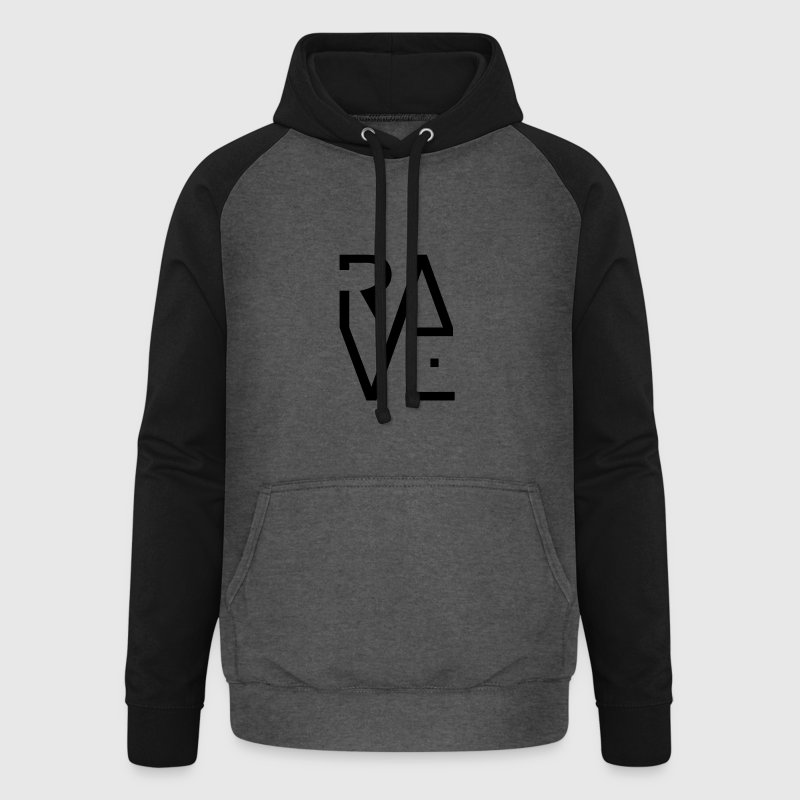 Rave Minimal Text Electronic Music Techno Schrift Pullover & Hoodies - Unisex Baseball Hoodie