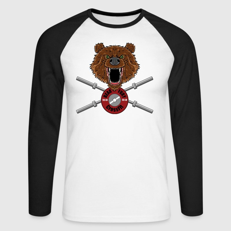 Bear Fury Crossfit Manches longues - T-shirt baseball manches longues Homme