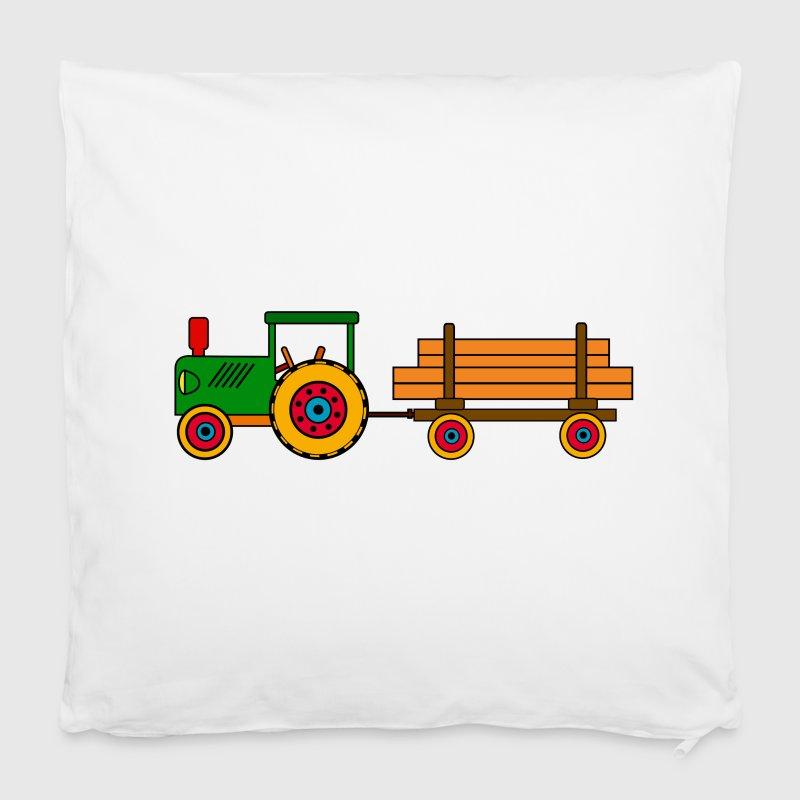 gr ner traktor mit holzanh nger kissenbezug spreadshirt. Black Bedroom Furniture Sets. Home Design Ideas