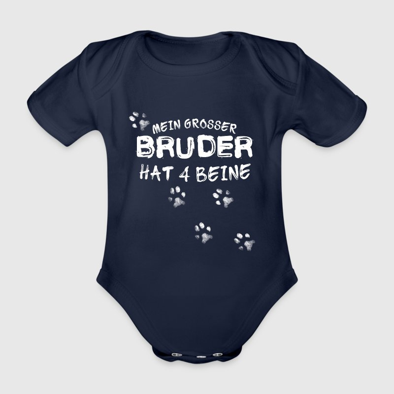 Bruder hat 4 Beine - Baby Bio-Kurzarm-Body