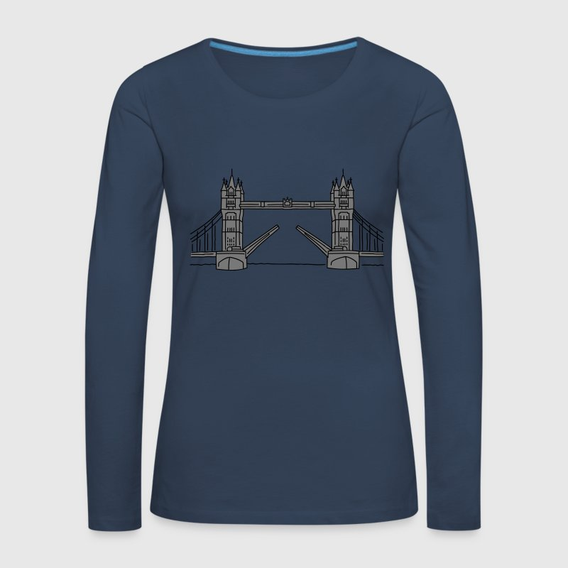 London Tower Bridge 2 Langarmshirts - Frauen Premium Langarmshirt