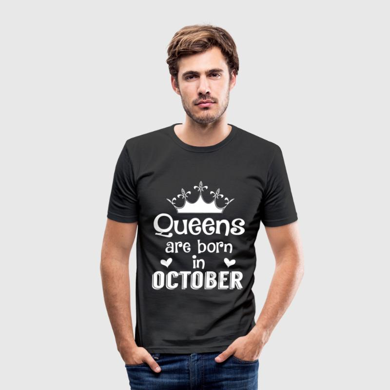 October - Queen - Birthday - 1 T-shirts - slim fit T-shirt