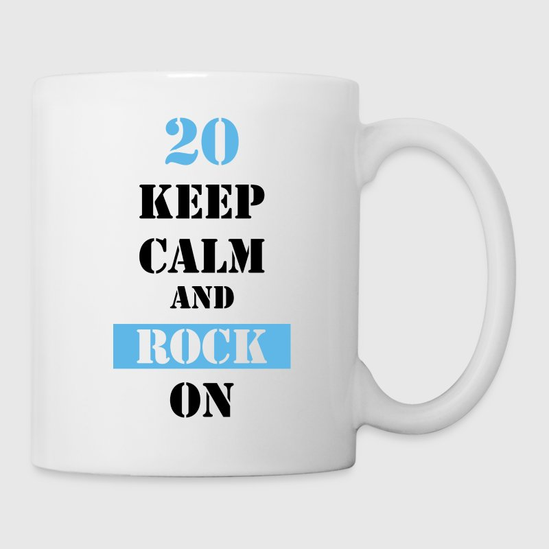 20 Keep calm and rock on Tassen & Zubehör - Tasse