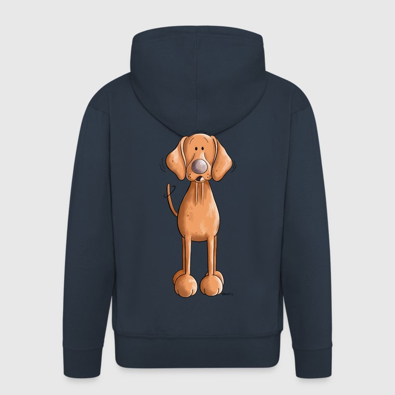 Happy Vizsla Hoodies & Sweatshirts - Men's Premium Hooded Jacket