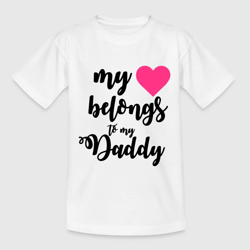 My heart belongs to my daddy Shirts - Kids' T-Shirt
