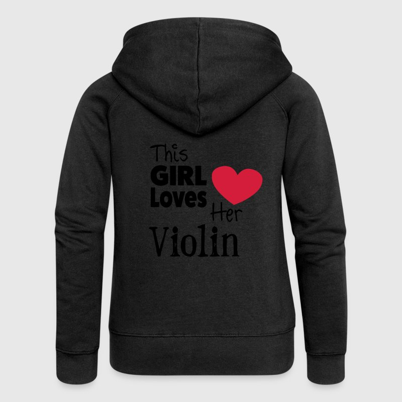 This Girl Loves Her Violin Felpe - Felpa con zip premium da donna