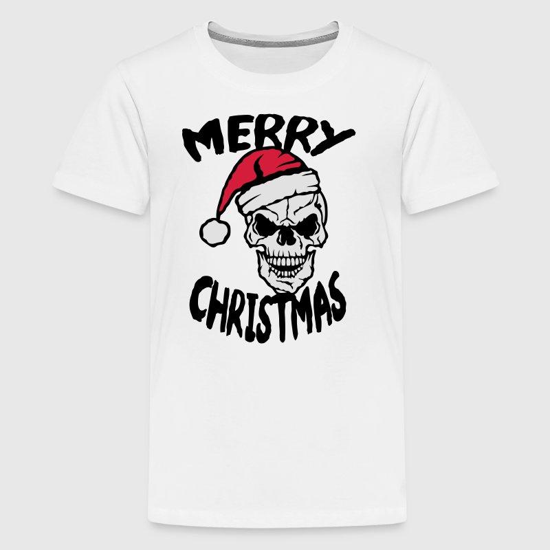 tee shirt merry christmas tete de mort bonnet noel spreadshirt. Black Bedroom Furniture Sets. Home Design Ideas