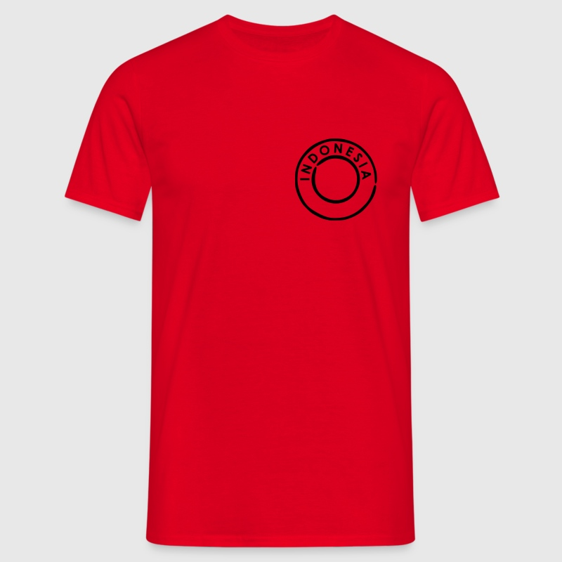 Rood Indonesie - Indonesia T-shirts - Mannen T-shirt