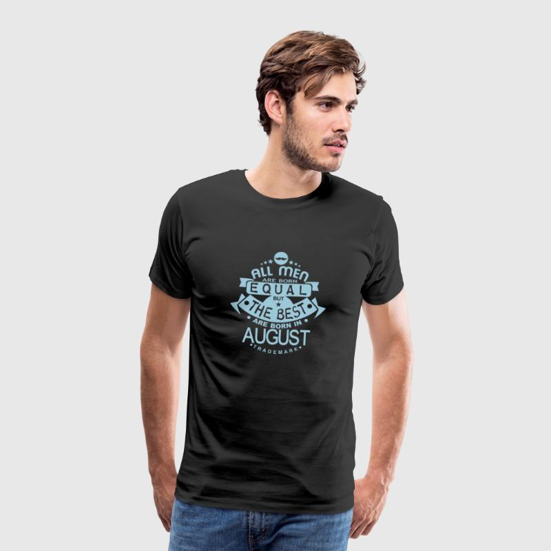 august men equal best born month logo Camisetas - Camiseta premium hombre