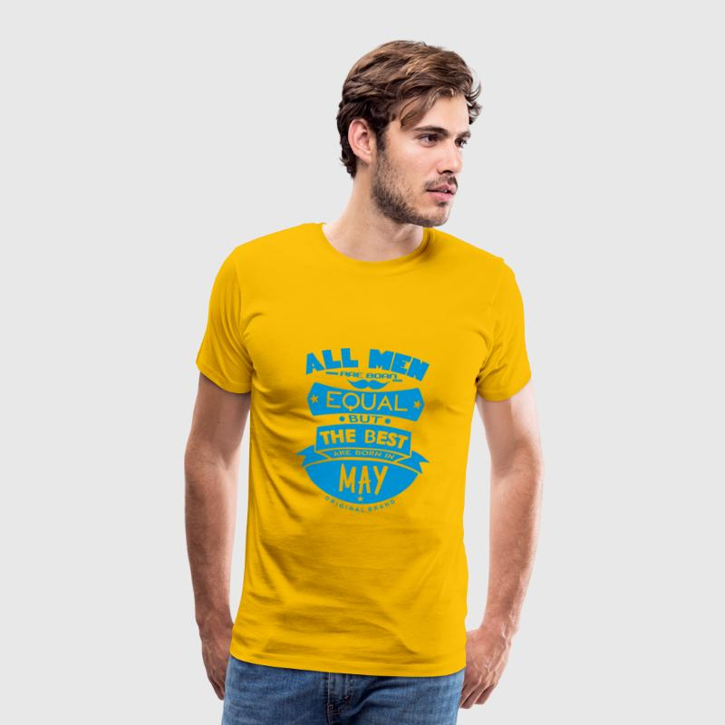 may men equal best born month logo T-Shirts - Men's Premium T-Shirt
