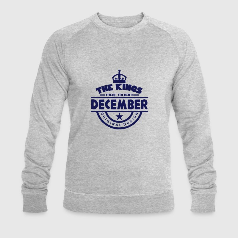 december kings born birth month crown logo Hoodies & Sweatshirts - Men's Organic Sweatshirt by Stanley & Stella