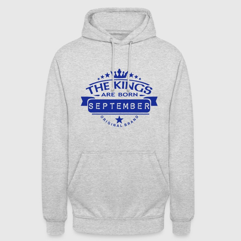 september kings born birth month crown  Hoodies & Sweatshirts - Unisex Hoodie