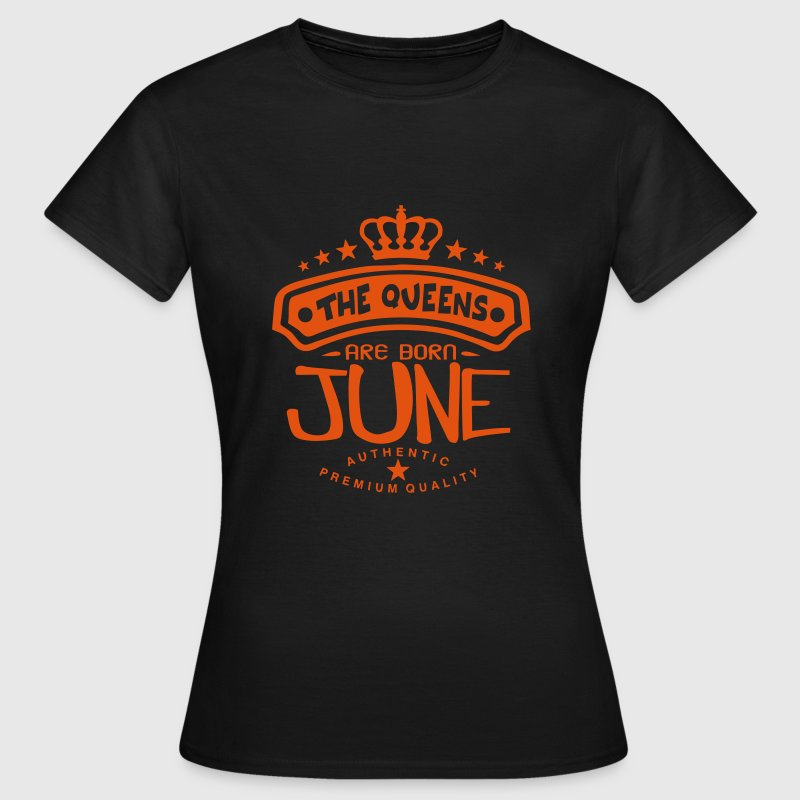june born queens crown logo T-Shirts - Women's T-Shirt