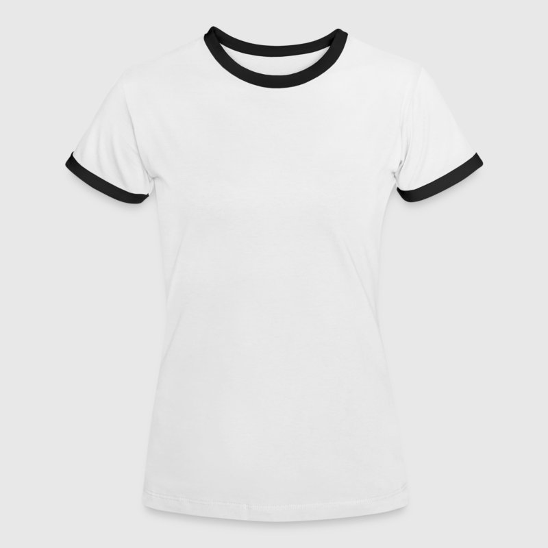 White/black Burger Addict T-Shirts - Women's Ringer T-Shirt