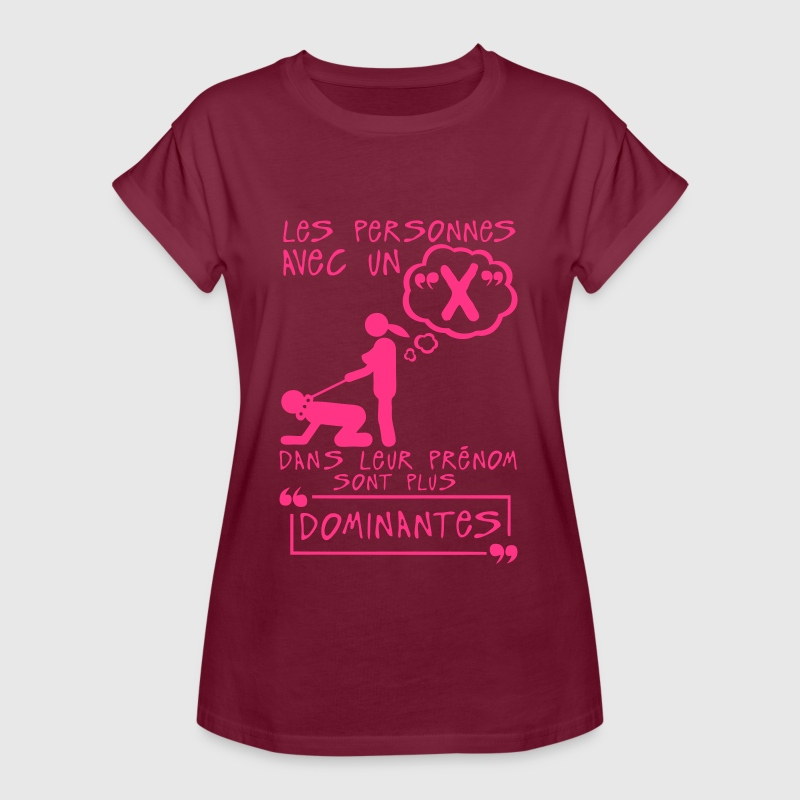 x dominante prenom lettre personne Tee shirts - T-shirt oversize Femme