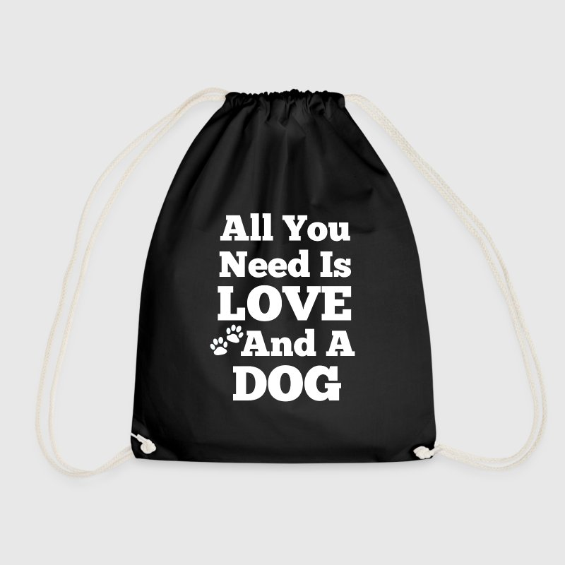 All u need is love+a dog Taschen & Rucksäcke - Turnbeutel