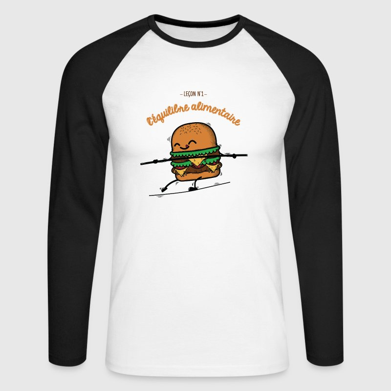 Burger Humour Manches longues - T-shirt baseball manches longues Homme
