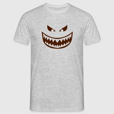 Fierce tooth smiley tooth 1612 Long sleeve shirts - Men's T-Shirt