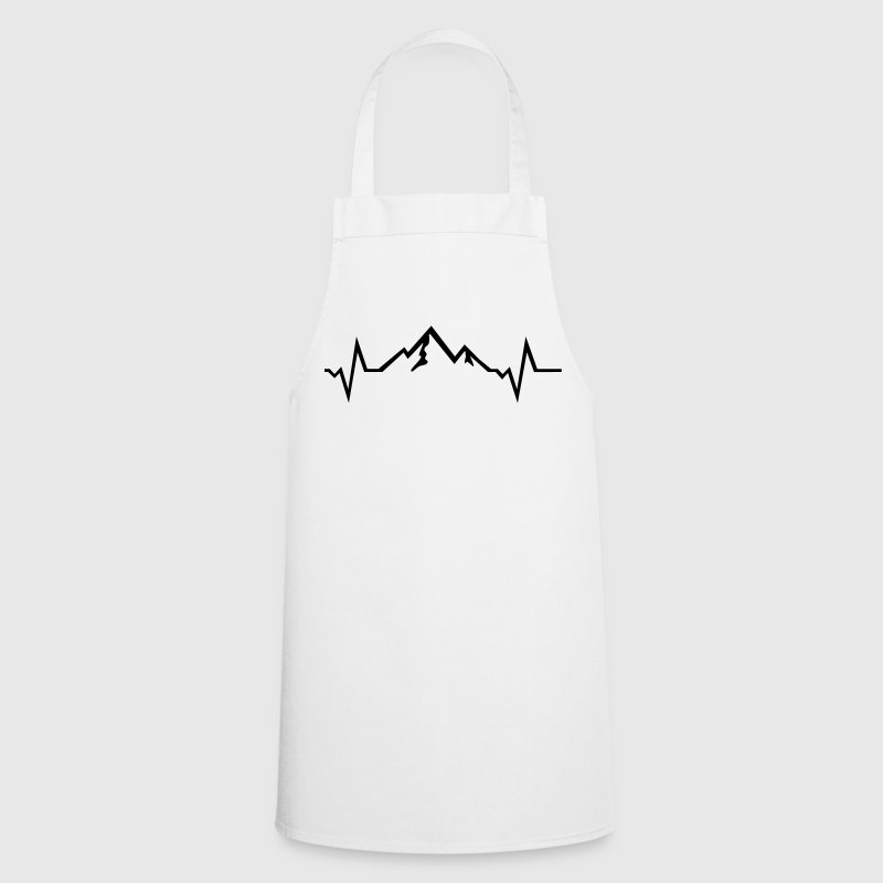 Mountains - Heartbeat  Aprons - Cooking Apron