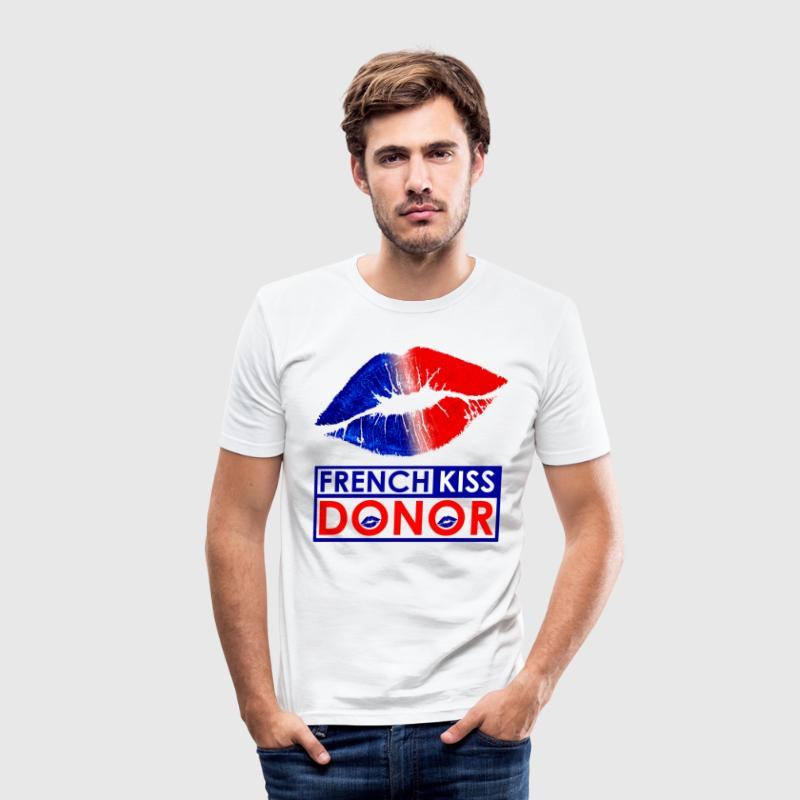 French Kiss Donor Tee shirts - Tee shirt près du corps Homme