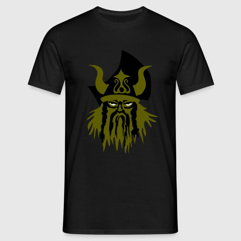 Sort Viking billede T-shirts - Herre-T-shirt