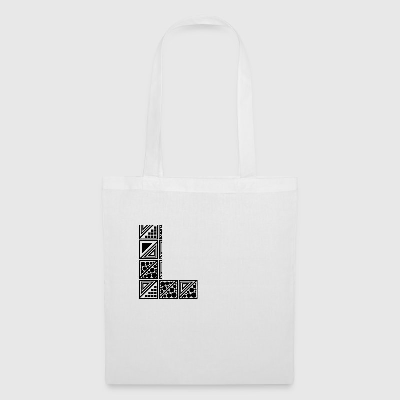 White letter L Bags  - Tote Bag