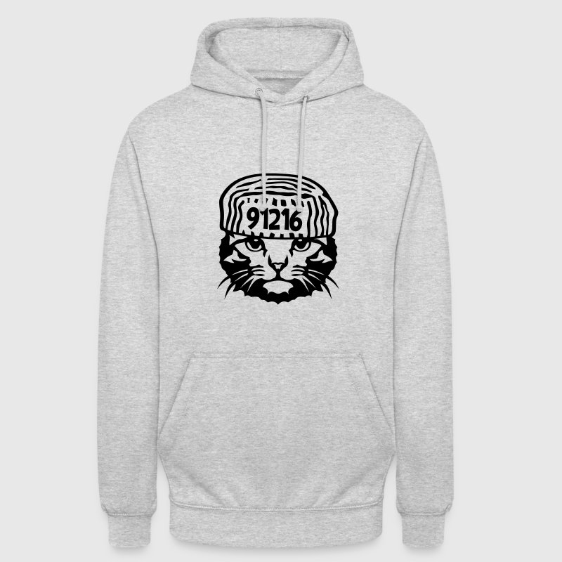 chat prisonnier humour Sweat-shirts - Sweat-shirt à capuche unisexe