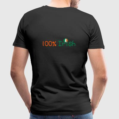 ♥ټ☘I'm 100% Irish-Irish Power Hip Hugger☘ټ - Men's Premium T-Shirt