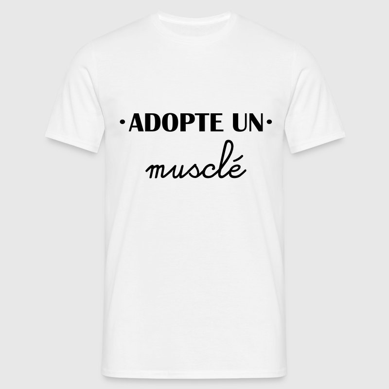 t shirt adopte un muscl spreadshirt. Black Bedroom Furniture Sets. Home Design Ideas