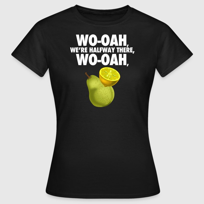lemon on a pear - funny misheard lyrics - Women's T-Shirt