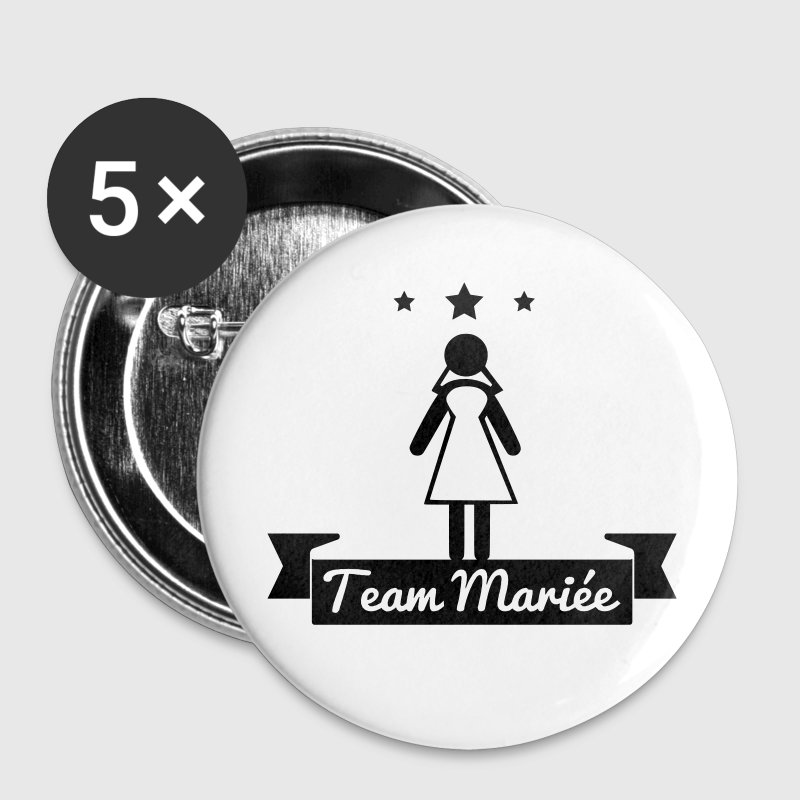 Enterrement de vie de jeune fille : Team mariée - Badge grand 56 mm