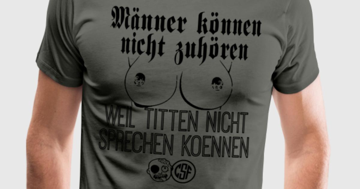 m nner k nnen nicht zuh ren t shirt spreadshirt. Black Bedroom Furniture Sets. Home Design Ideas