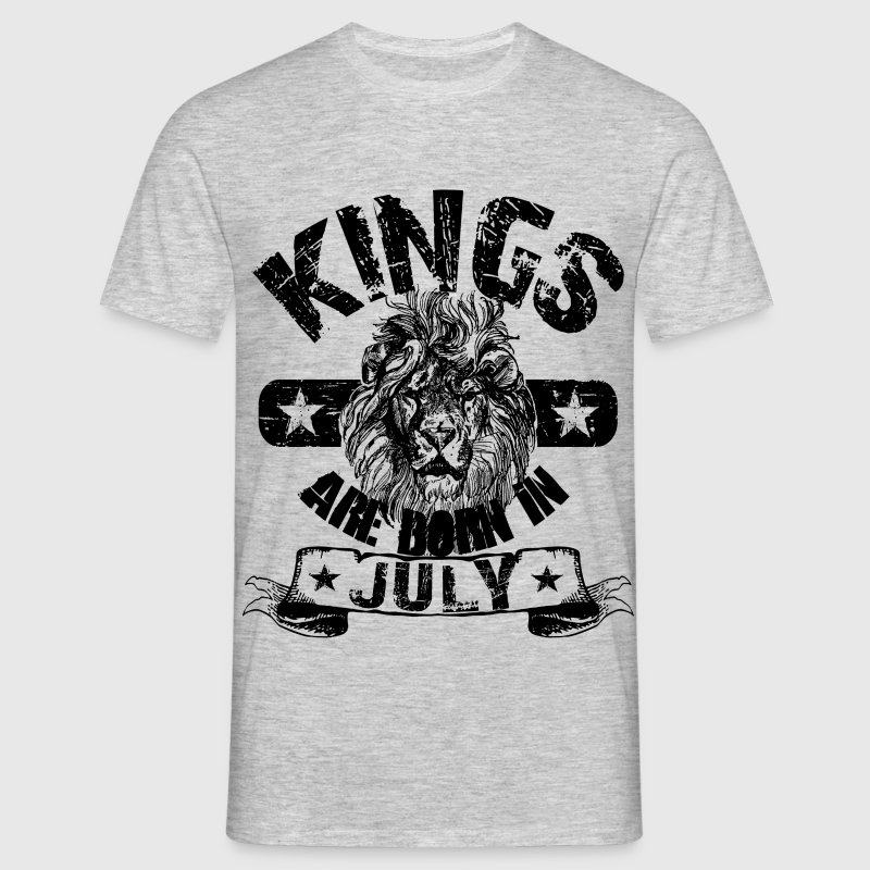 Kings Are Born In July T-Shirts - Männer T-Shirt