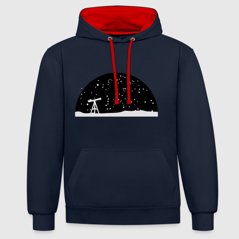 Astronomie, Telescope and stars Sweat-shirts - Sweat-shirt contraste