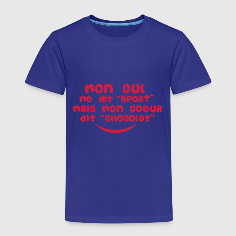 cul dit sport coeur chocolat citation Tee shirts - T-shirt Premium Enfant