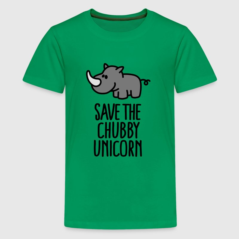 Save the chubby unicorn Shirts - Teenager Premium T-shirt