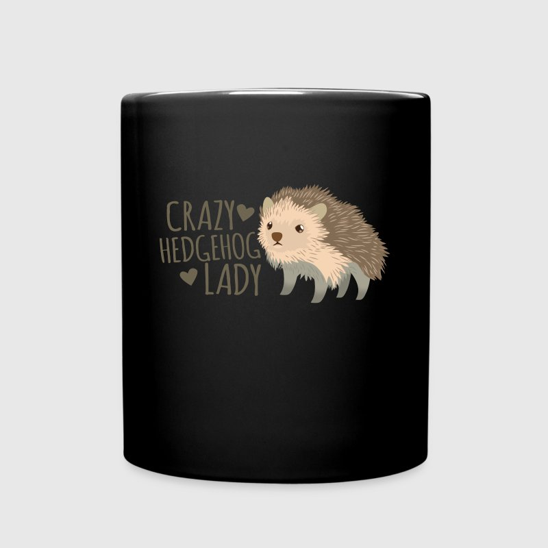 crazy hedgehog lady Mugs & Drinkware - Full Colour Mug