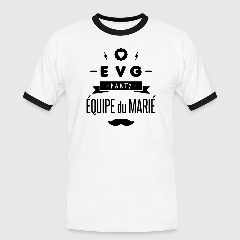 EVG party Tee shirts - T-shirt contraste Homme