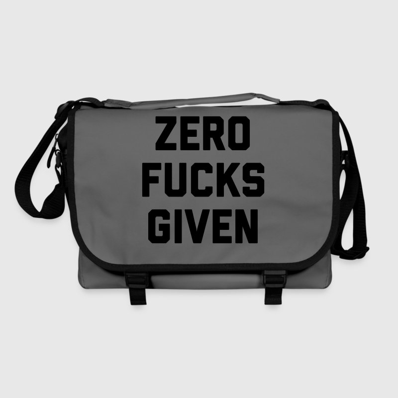 Zero Fucks Given Funny Quote Bags & Backpacks - Shoulder Bag