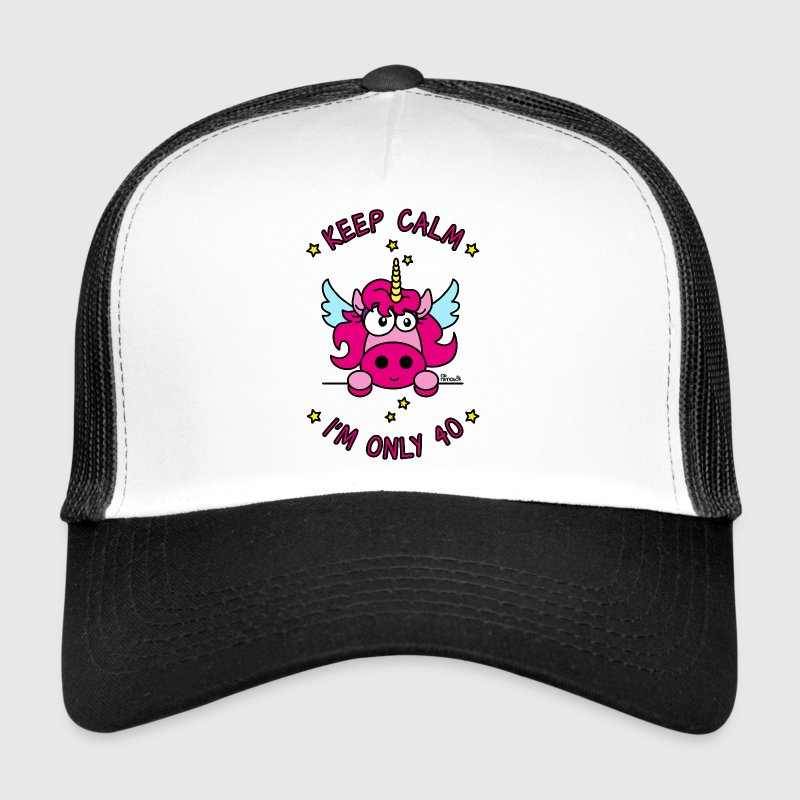 Trucker Cap Licorne Keep Calm, I'm only 40 ans - Trucker Cap