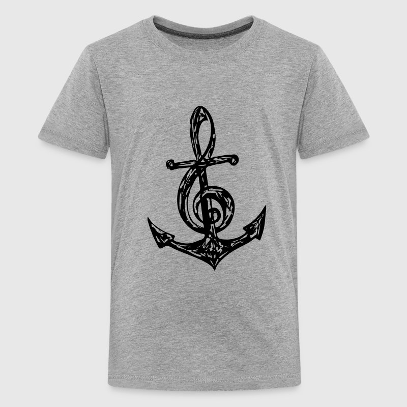 Anker, Musik Note, Musiknote, Notenschlüssel, Bass T-Shirts - Teenager Premium T-Shirt