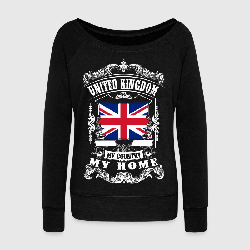 United Kingdom - My country - My home Hoodies & Sweatshirts - Women's Boat Neck Long Sleeve Top