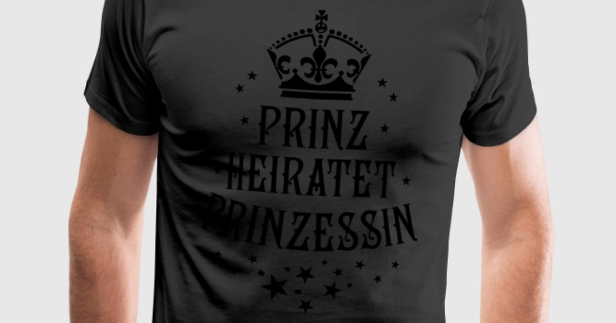 Prinz heiratet prinzessin hochzeit partnerlook t shirt for Two color shirt design