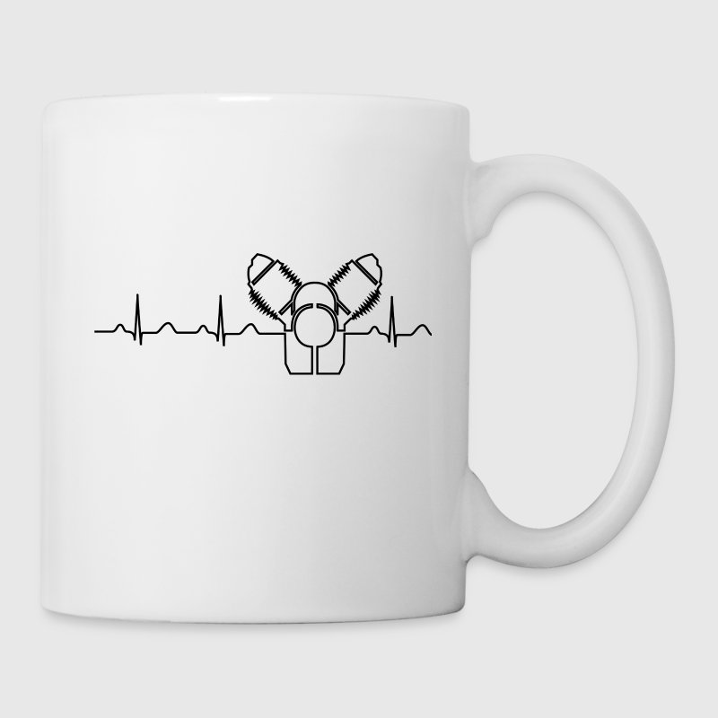 Moto Guzzi Heartbeat black Mugs & Drinkware - Mug