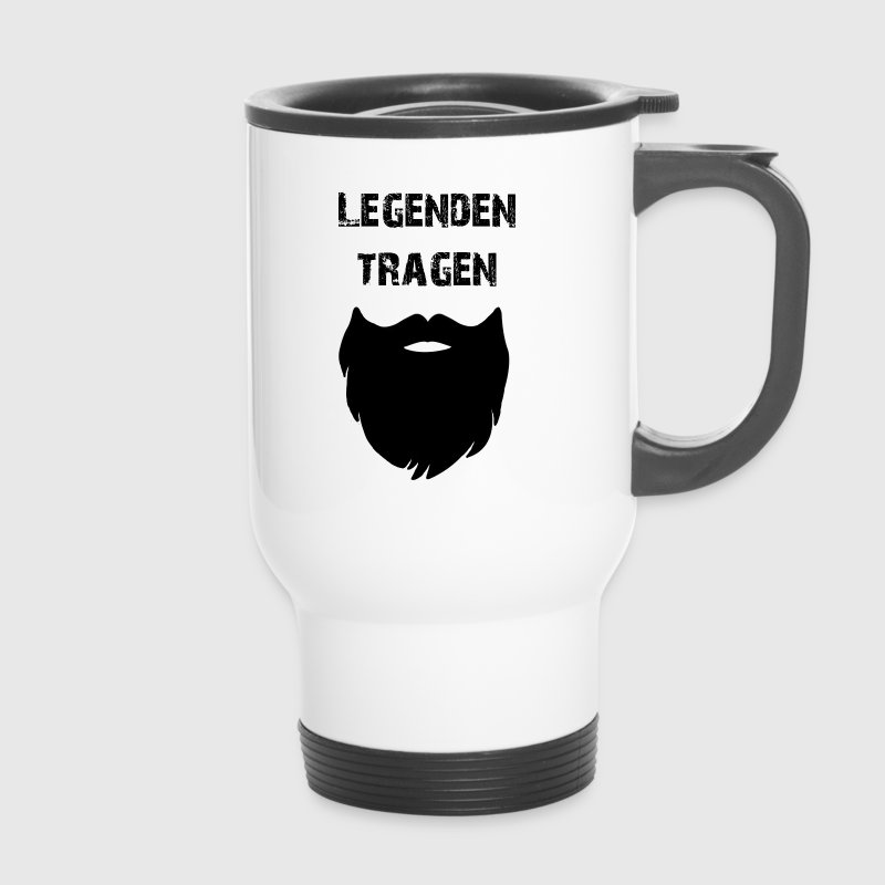 Legenden tragen Bart Thermobecher Tasse - Thermobecher