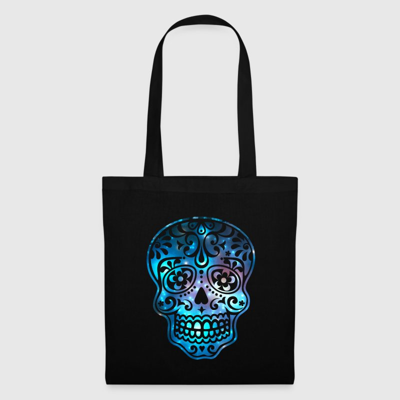 Sugar Skull, Space, Galaxy Style, Cosmic Bags & Backpacks - Tote Bag