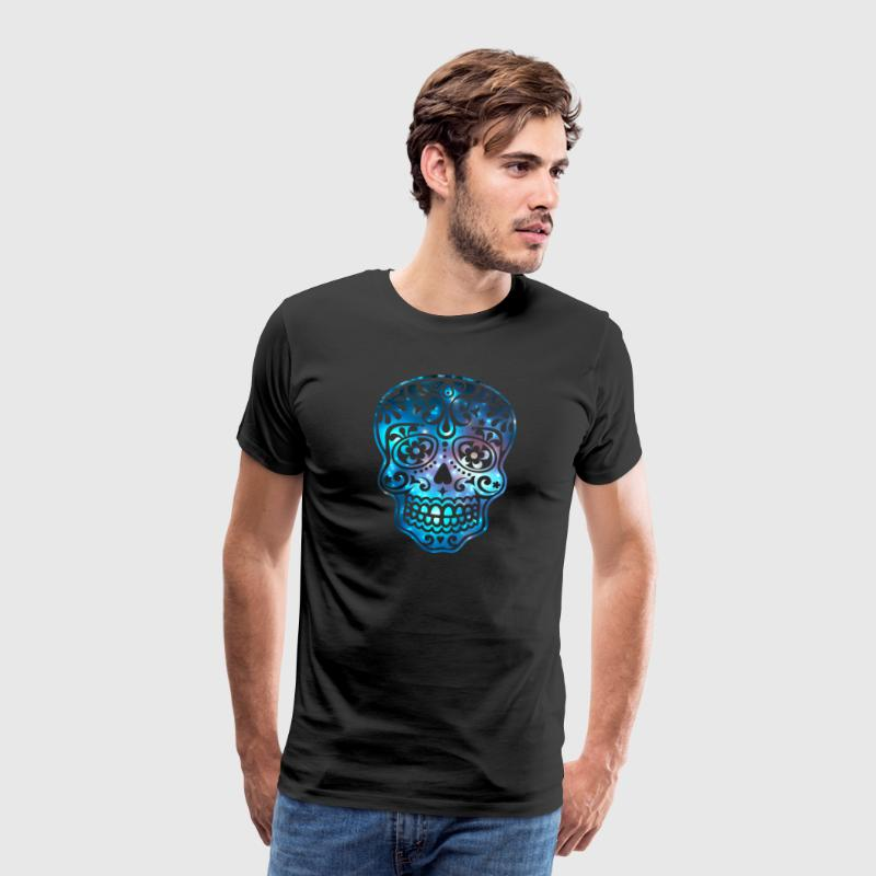 Sugar Skull, Space, Galaxy Style, Cosmic T-shirts - Mannen Premium T-shirt