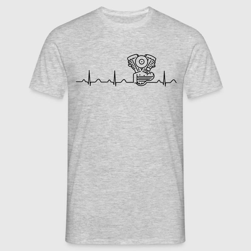 Panhead Heartbeat T-Shirt, grey/black - Men's T-Shirt