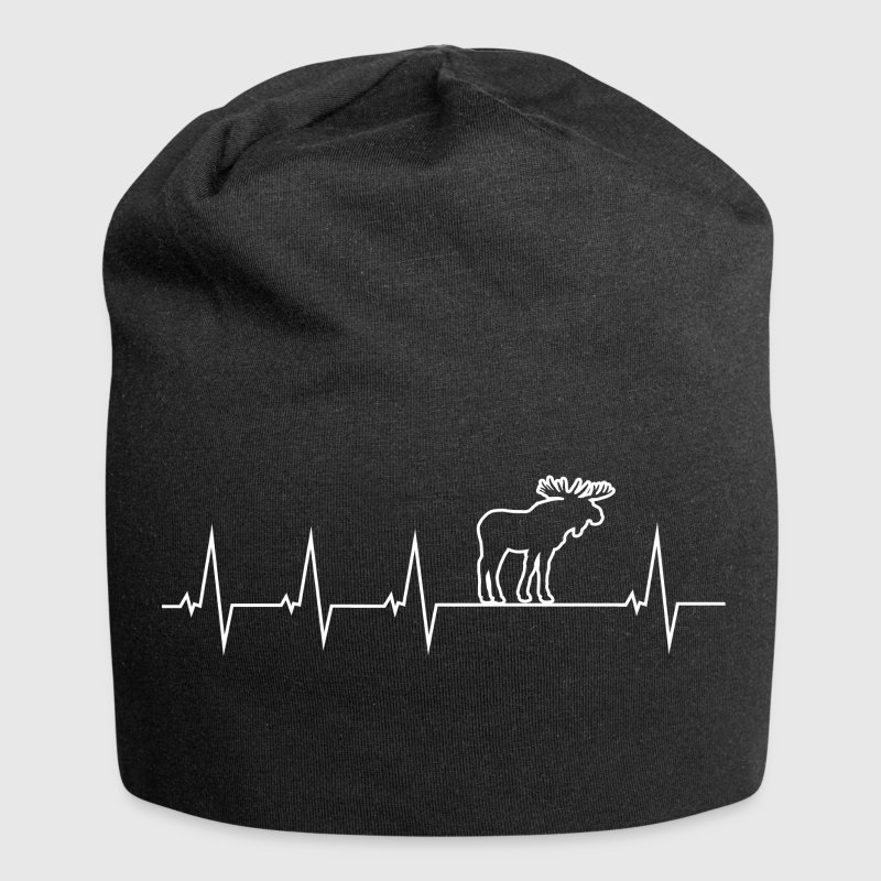 I love moose - Heartbeat Caps & Hats - Jersey Beanie